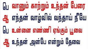 Muthal mariyathai song lyrics