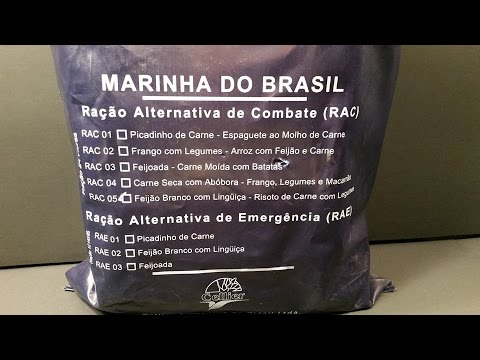 Brazilian Navy 24 Hour MRE Ration Alternative Combat RAC Review Meal Ready to Eat Taste Test