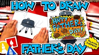 How To Draw A Father's Day BBQ - Folding Surprise