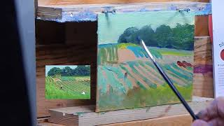 TomFisherArt 87 Oil Painting Landscape Gardening in the Open Fields Instruction