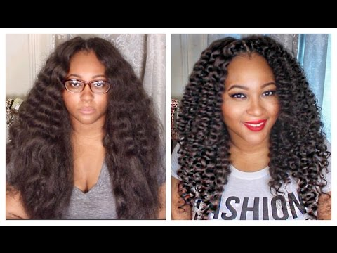 Curly Crochet Braids w/ Kanekalon Hair | Braid Pattern, Installation (Knot/Knotless) Included