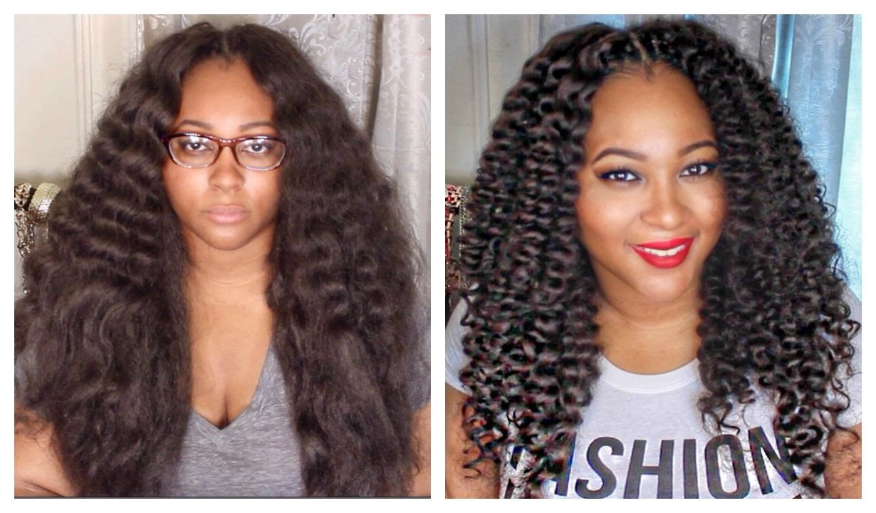 Crochet Braids Curly : Curly Crochet Braids w/ Kanekalon Hair Braid Pattern, Installation ...