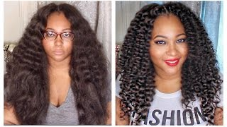 Curly Crochet Braids W Kanekalon Hair Braid Pattern Installation Knot Knotless Curling Expressions