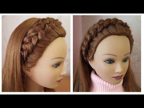 Braided headband hairstyle Quick & Easy 🌺 Tresse serre tête 🌺 facile à faire thumbnail