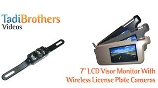 visor monitor with wireless license plate backup camera kit from www tadibrothers com