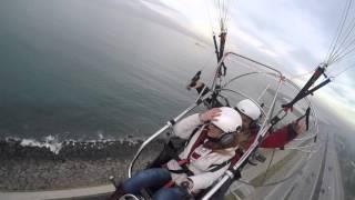 Trabzonda paraşüt uçuşu