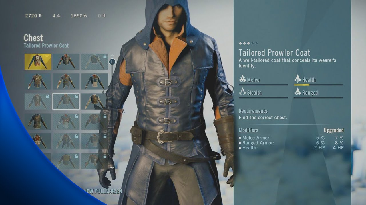 Assassin S Creed Unity How To Get Tailored Prowler Coat Youtube