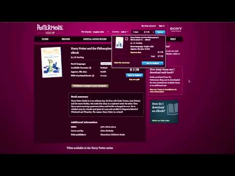 How To Buy Harry Potter EBooks Through Pottermore