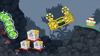 Bad Piggies - NINJA TRY TO TAKE MARBLE CRATE ON GOLDEN CAR!!