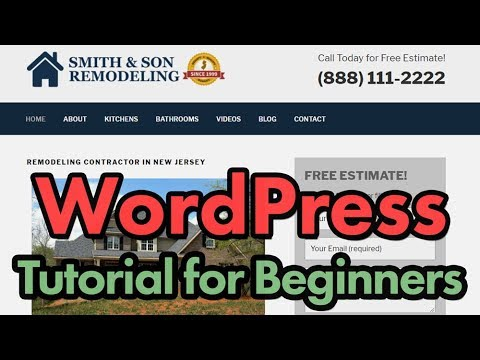 How to Make A Business WordPress Website in 2018 (Elementor)