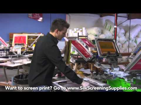How to Screen Print - On press cleanup - Screen Printing 101 DVD pt 36