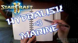 Hydralisk & Marine - Starcraft 2 - speed drawing (Always-most-Funny)