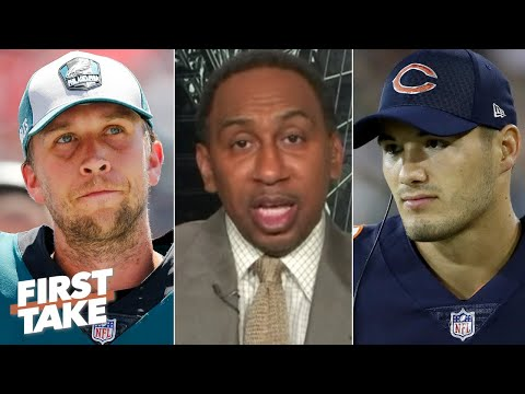 Nick Foles will replace Mitchell Trubisky as the Bears' starting QB – Stephen A.   First Take