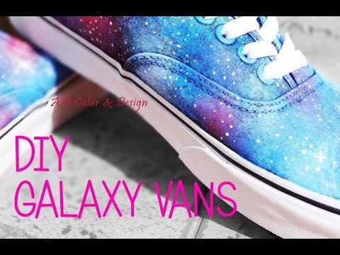 d1ac8d309a12bf Custom Vans - Scarpe Personalizzate Galaxy Vans - by A B Color   Design