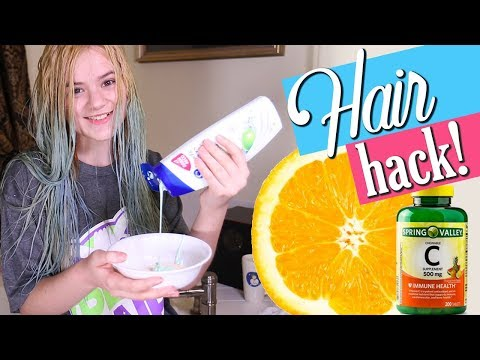 Vitamin C Hair Dye Removal Tested Hair Alanna Blog