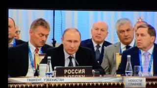 Песков уснул от речи шефа...