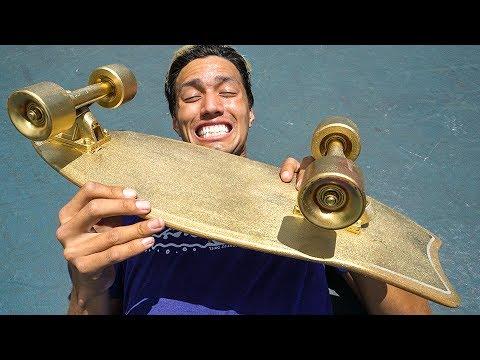 $15,000 SKATEBOARD?!  World's Most Expensive Skateboard!!