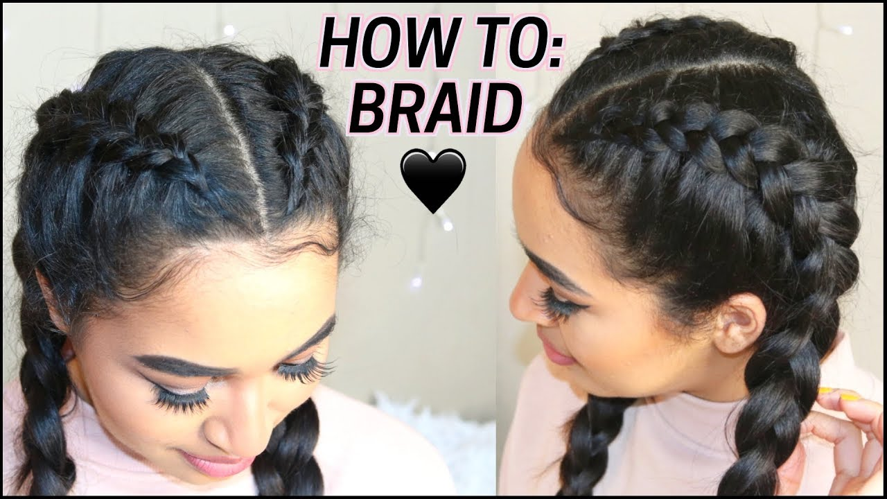 DUTCH BRAID / CORNROW HACKS ♡ Long Hairstyles by Lana Summer
