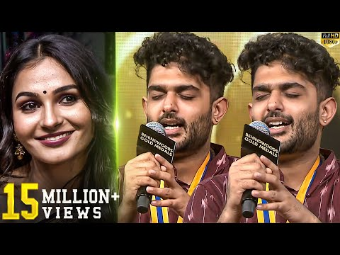 Sid Sriram Live Performance!! - Andrea's Reaction - You will Watch in Repeat Mode!!