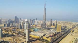 aerial view burj khalifa downtown dubai eyx3qimukl
