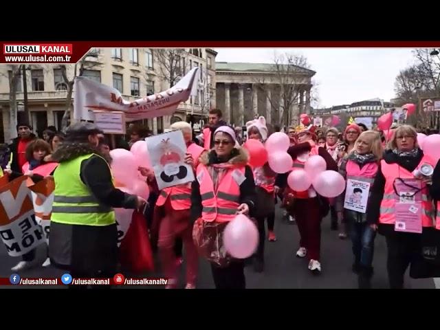Fransa'daki sarı yelekliler eylemi 17'nci haftasında
