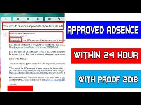 Approve Google Adsence With In 24 Hours 2018 (Legal way with proof)