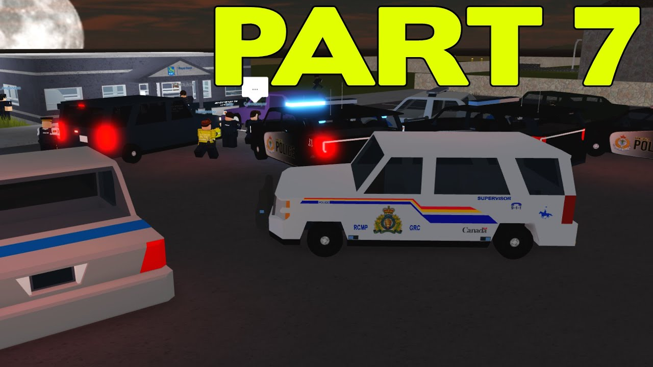 ROBLOX Vancouver RCMP Patrol Part 7 | Bank Robbery!