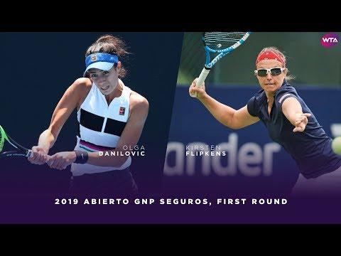 Olga Danilovic Vs. Kirsten Flipkens   2019 Monterrey Open First Round   WTA Highlights