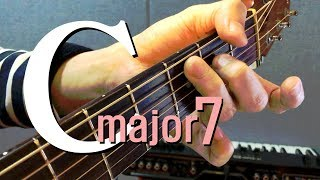 c major7   -  () c major7 chord guitar lesson -