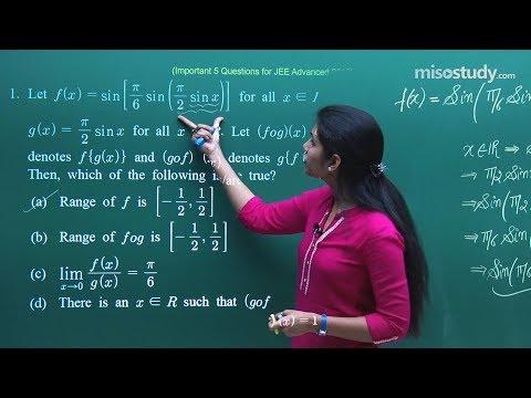 JEE Advanced 2018 Mathematics - Most Important Sample Questions Pattern   Misostudy