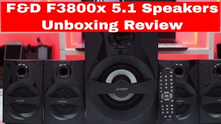F&D F3800x 5 1 Speakers Unboxing Review - iDroid Review