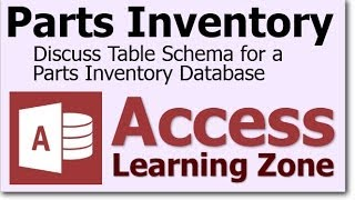 In this microsoft access tutorial i will teach you how to set up tables for a parts inventory database that has unique items with serial numbers. #msaccess #...