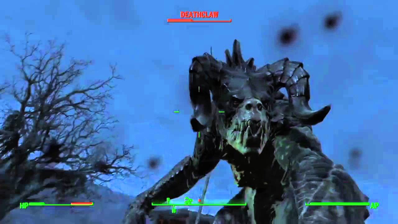 Fallout 4 - 1 man 2 death claws - YouTube