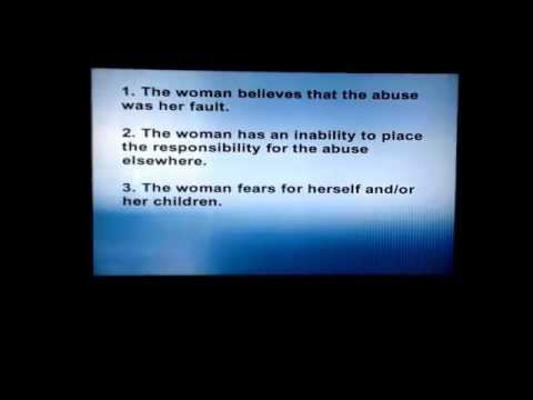 """Controlling and Abusive Relationships: """"Battered Women's Syndrome"""""""