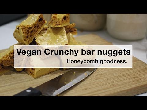 Honeycomb recipe - vegan crunchy bar nuggets