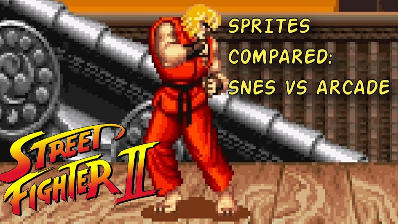 Street Fighter 2 Sprite Art Compared Snes 16 Bits Vs Arcade