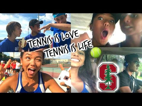 High School Tennis Match (+brother visits from Stanford!) | Vlog  #4