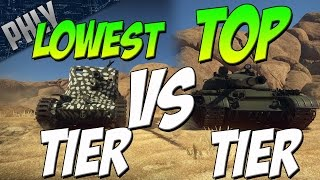 LOWEST Tier Tank VS TOP Tier Tanks (War Thunder Tanks Gameplay)