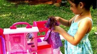 Barbie Dollhouse Toys | Pink Bed And Bath Set Toy Review
