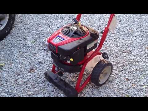 TROY BILT 2700 PSI PRESSURE WASHER FROM LOWES...FAIL FAIL FAIL - YouTube