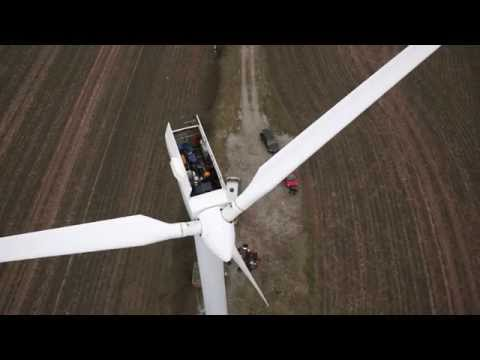 Wind turbine aerial video