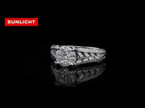 Роскошное помолвочное кольцо с бриллиантами от САНЛАЙТ!
