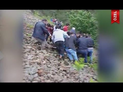 Helikopter Kazasında Yaralı Komutan Dağdan Böyle Indirildi