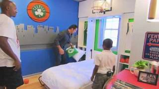 Extreme Makeover Home Edition - Charles Dunks On Ray Allen!