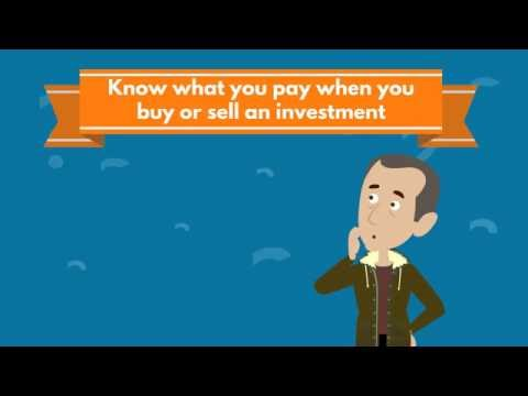 Know What You Pay When You Buy Or Sell An Investment