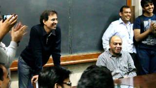 Harsha Bhogle and Sanjeev Bikhchandani at IIM Ahmedabad