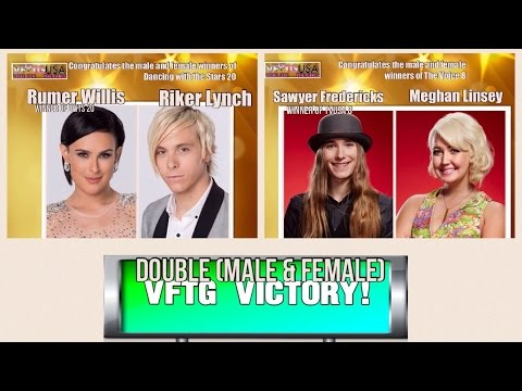 SIX VFTG VICTORIES!!!!! Sawyer & Riker's Male Winner, Meghan & Rumer's Girl Winner