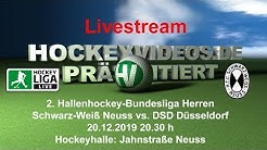 2. Hallenhockey-Bundesliga Herren SWN vs. DSD 20.12.2019 Live