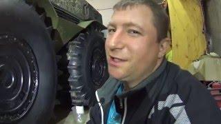 Ставим баки в колеса вездехода Шерп Install tanks on wheels  in all-terrain vehicle Sherp(Спонсор новогодних подарков для деда Минея интернет гипермаркет