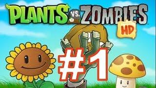 Растения против Зомби (Plants vs Zombies) - Прохождение игры с Андромаликом - 1. Глава ДЕНЬ, Часть 1